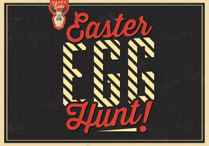 Fond de vecteur de chasse aux œufs de Pâques