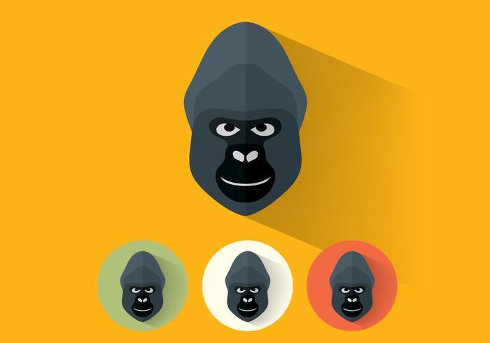 Retratos del vector del gorila