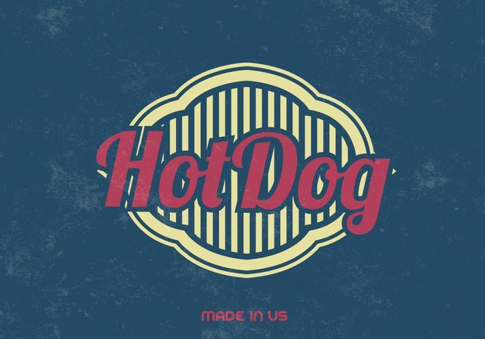 Vintage Hot Dog Vector Background