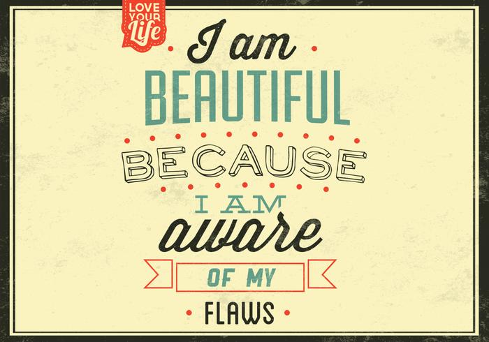 I am Beautiful Vector Background