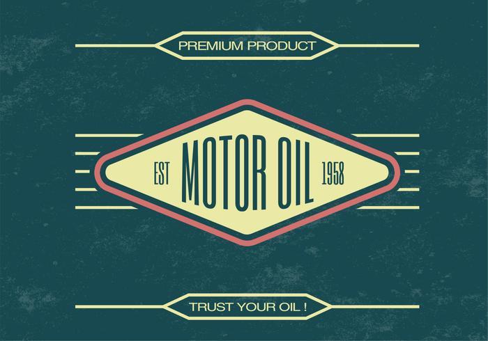 Vintage Motor Oil Vector Background