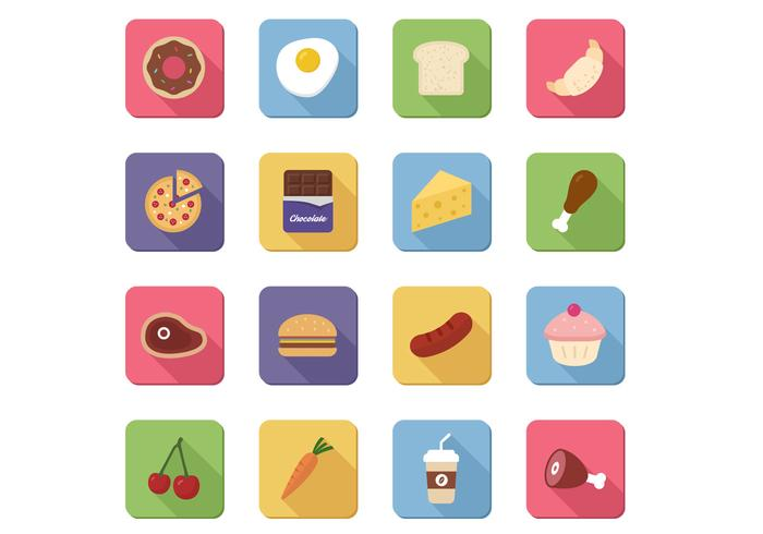 16 Food Icons Vector Pack