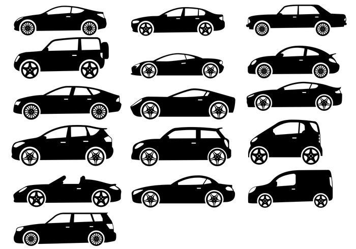 16 conjunto de coches vector