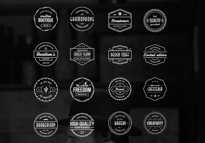 Vintage Badges Vector Collection