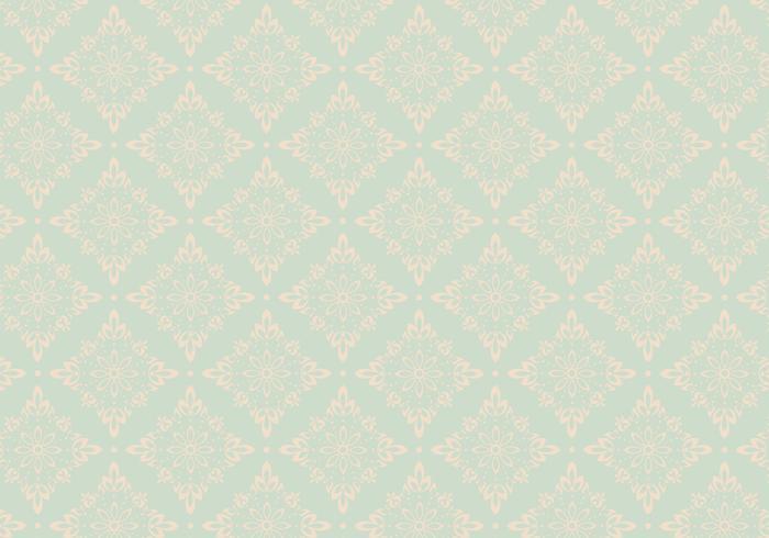 Mint Ornament Vector Pattern