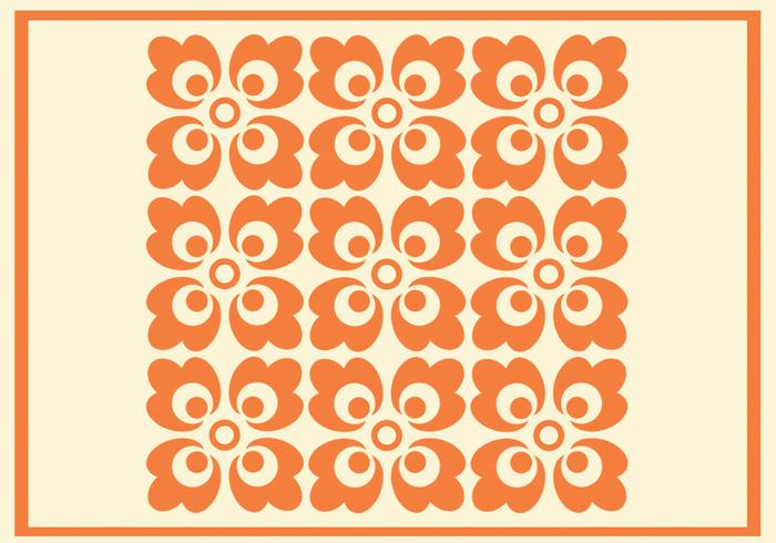 Orange Floral Vector Pattern