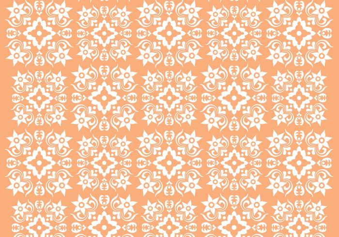 Retro Oranje Ornament Vector Patroon
