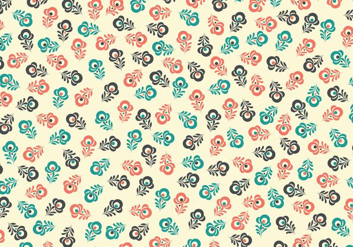 Retro Floral Vector Background