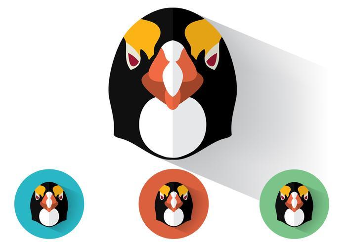 Penguin Portraits Vector Set