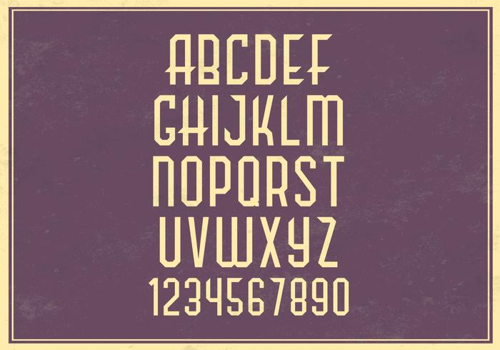 Retro Alphabet Vector Set