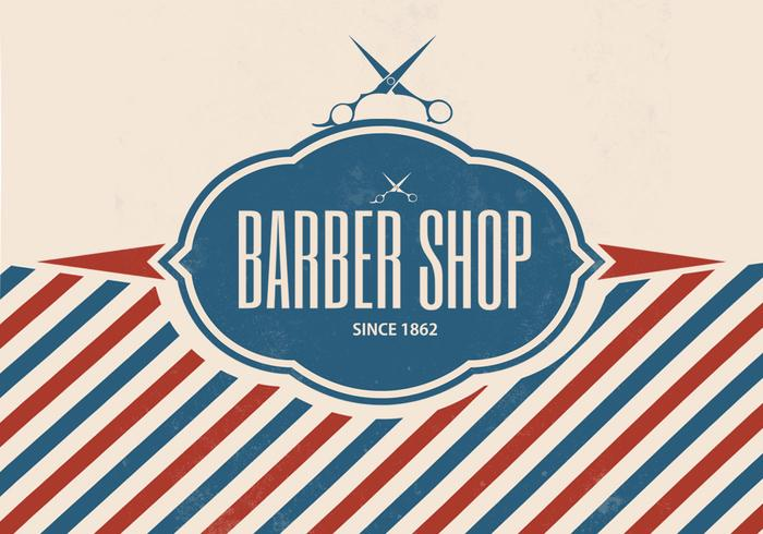 Fondo retro del vector de la peluquería