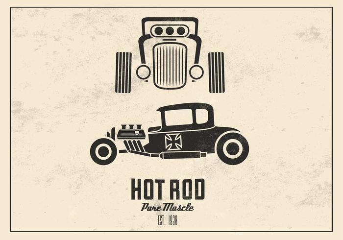 Retro Hot Rod Vector de fondo