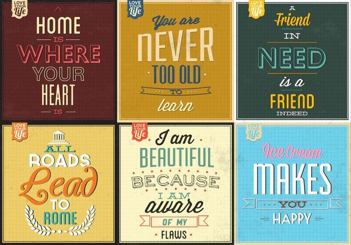 Retro Typographic Poster Vector Pack