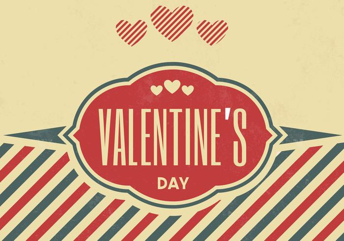 Vintage Valentine's Day Vector Background