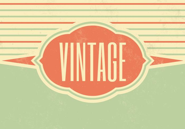 Striped Vintage Vector Background Two
