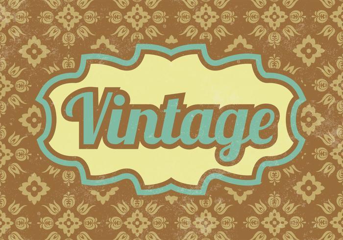 Patterned Vintage Vector Background