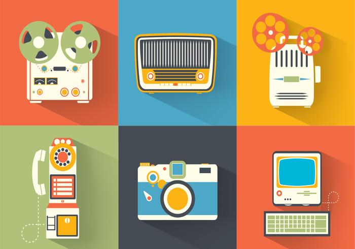 Bright Vintage Electronics Vector Pack