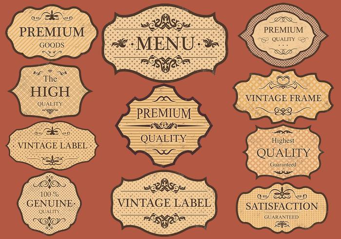 Vintage Labels Vector Set