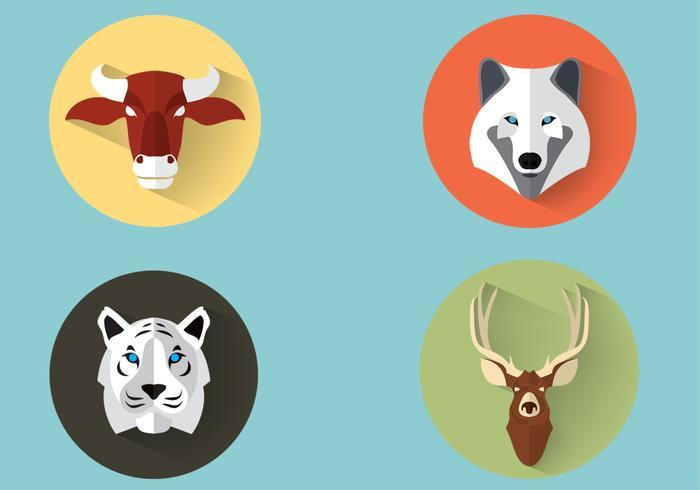 Animales Salvajes Vector Set