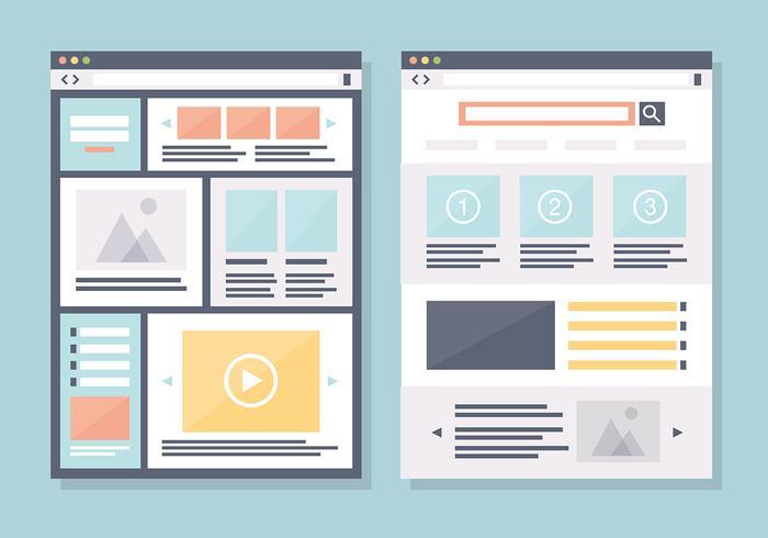 Moderno plano de diseño web de vectores de fondo