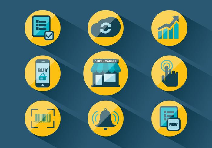 Set of Market Related Vector Icons