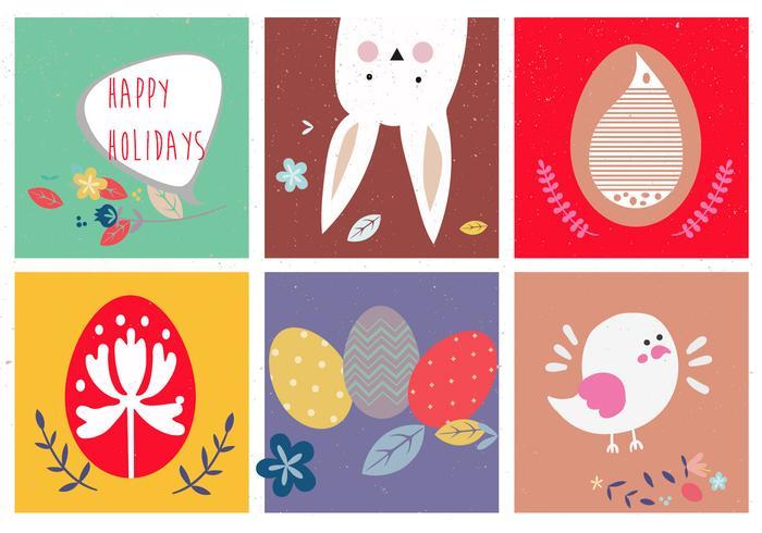 Ilustraciones Vectoriales Cute De Pascua