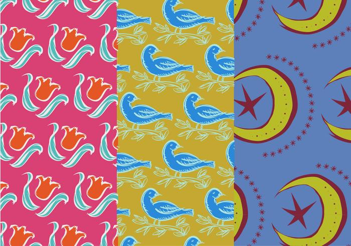 Cute Set of Various Pattern Backgrounds