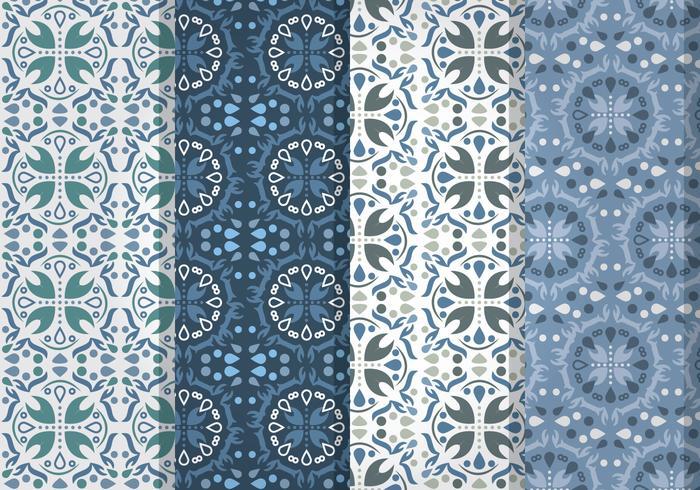 Blue Talavera Vector Patterns