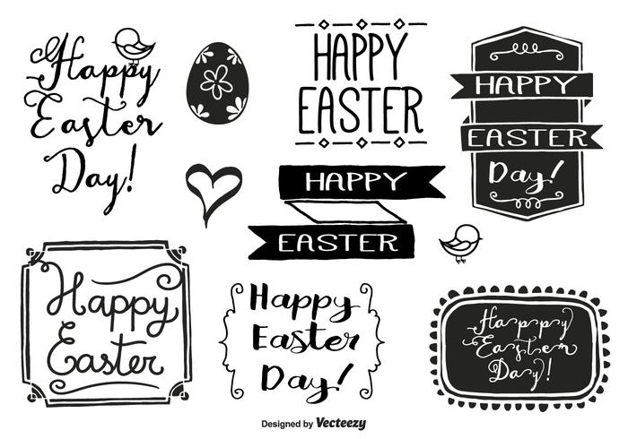 Hand Drawn Easter Label Set