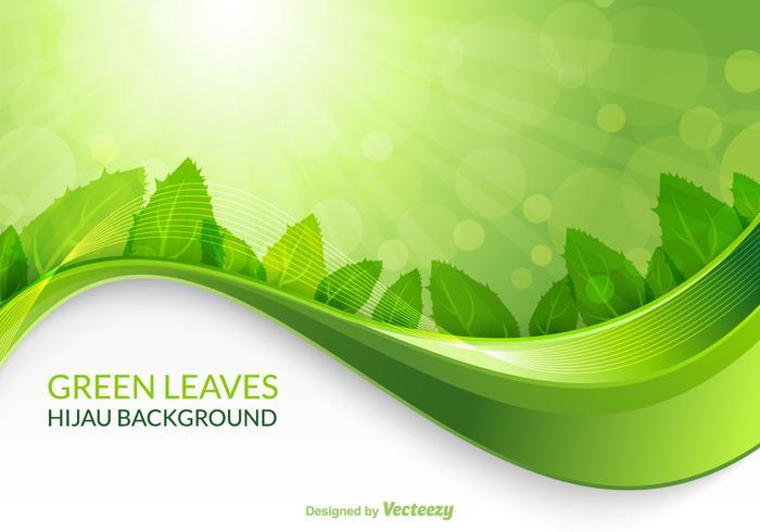 Vector Green Leaves Hijau Background