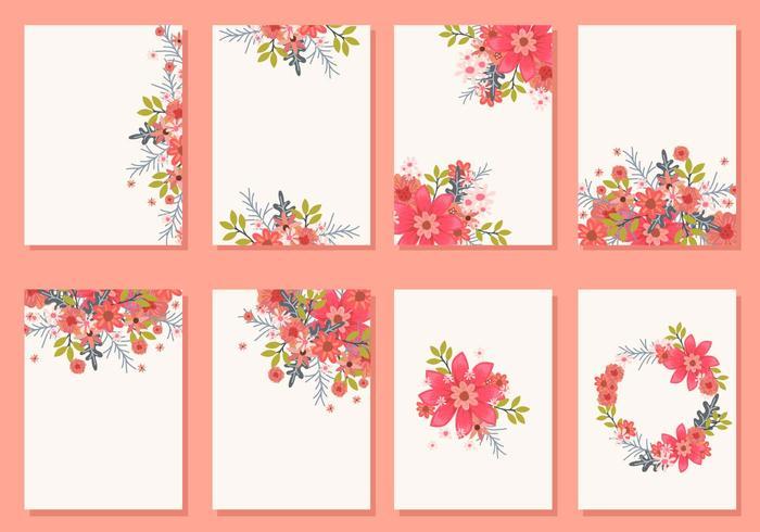 Floral Wedding Invitation Card Vectors Download Free Vector Art Stock Graphics Amp Images