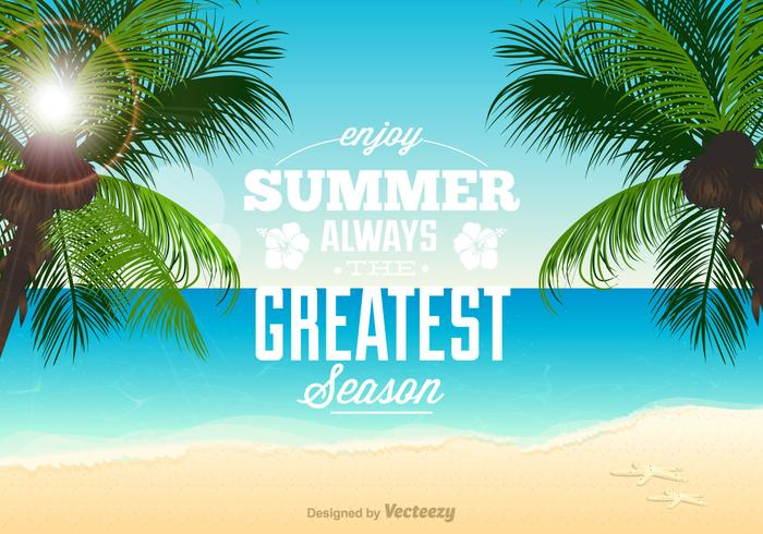 Beach Theme Vector Illustration