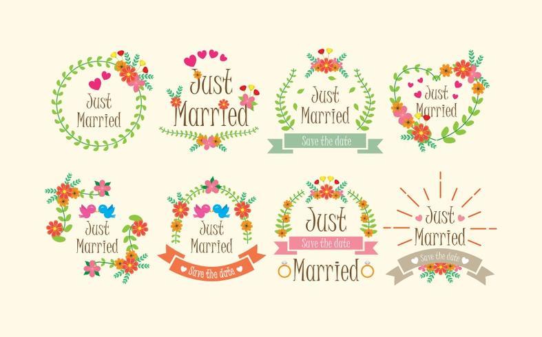 Casamento Boho Marco Vectores