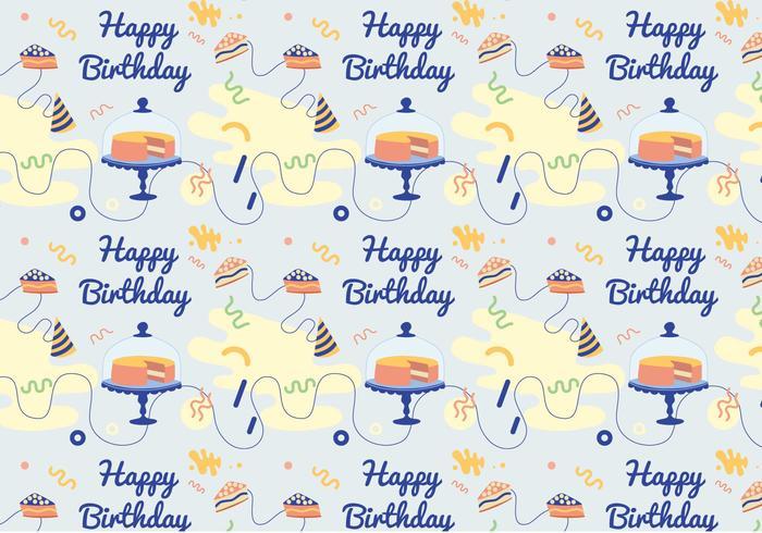 Vector Birthday Pattern