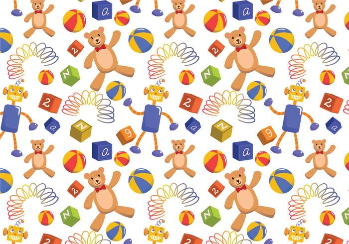 Kids Toys Pattern Vectors