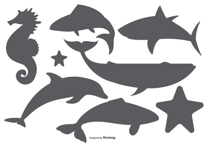 Mar Animales vector formas