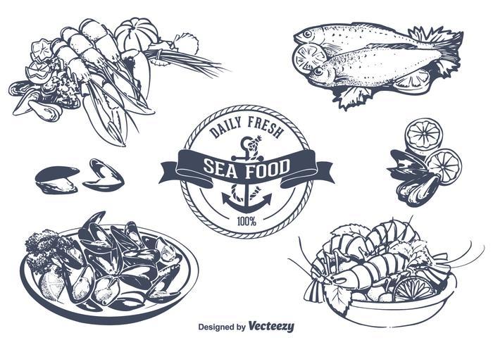 Seafood Vector Set