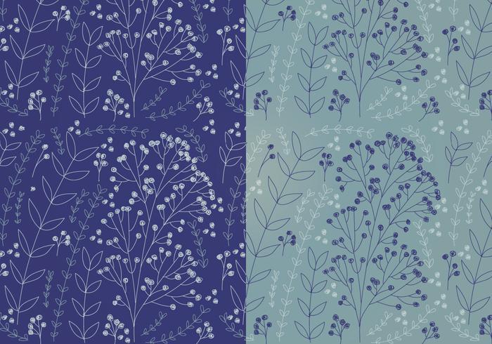 Vector Boho Floral Patterns