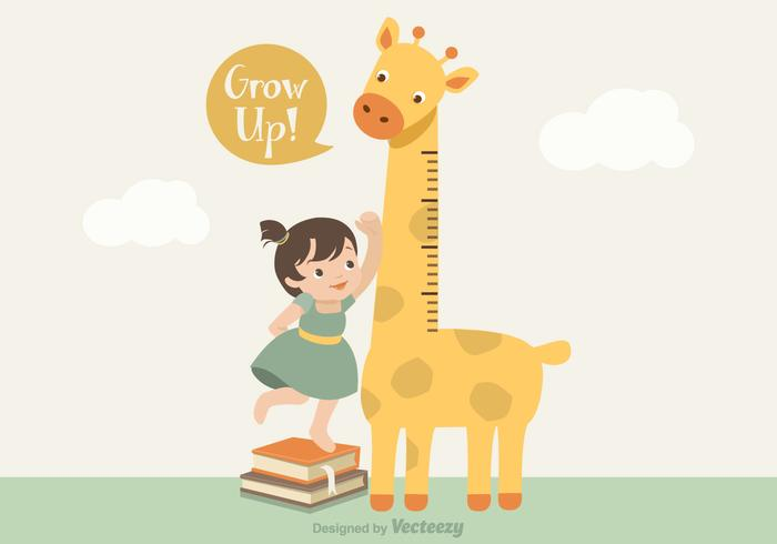 Vector Giraffe Growth Chart