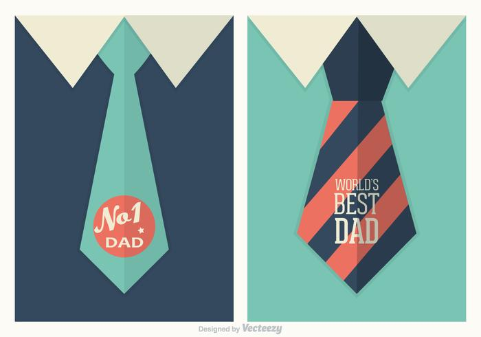 Retro Father's Day Vector Posters