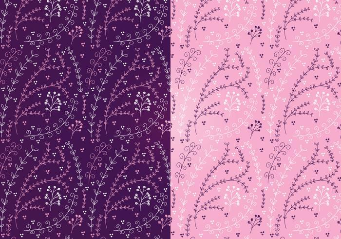 Vector Magenta Floral Patterns