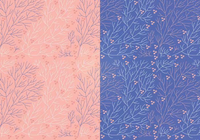 Vector Boho Branch Floral Patterns