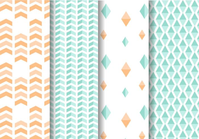 Mint and Peach Geometric Pattern Vector
