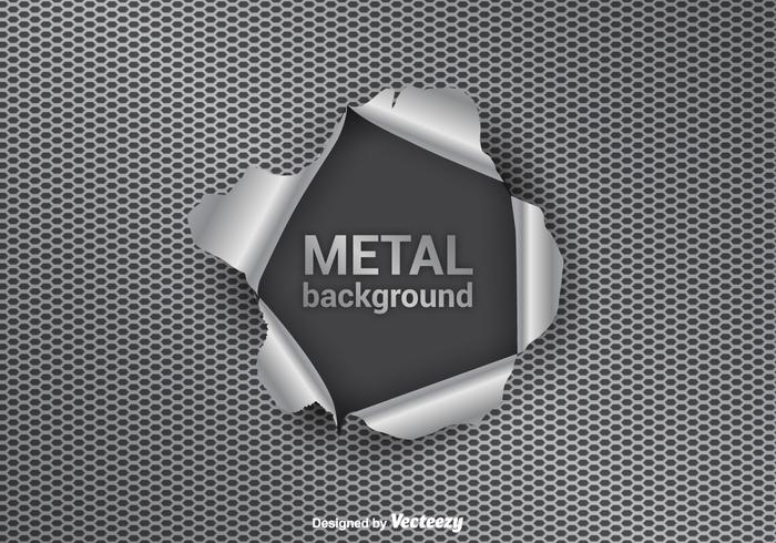 Metalen Tear Vector Achtergrond