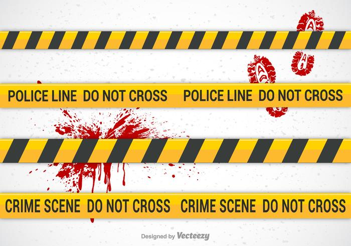 Police Line Vector Brushes