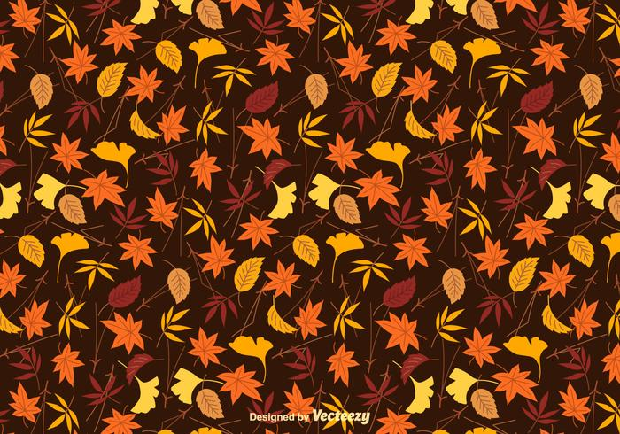 Colorful Leaves Vector Background