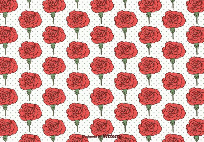Carnation Vector Seamless Pattern