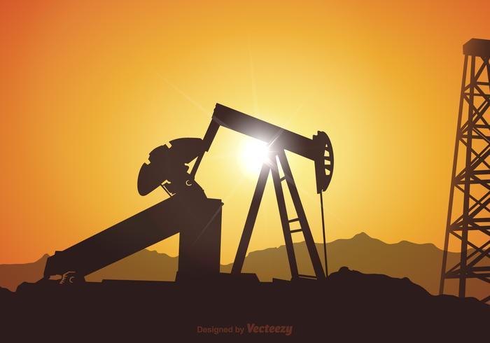 Vector Oil Field Illustration