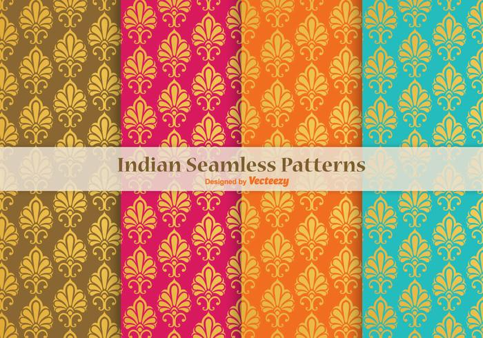 Indian Vector Seamless Patterns