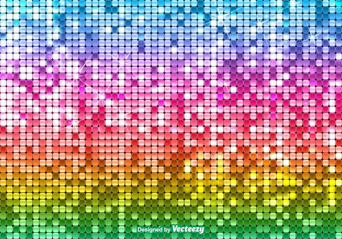 Bright Vector Sequin Rainbow Background